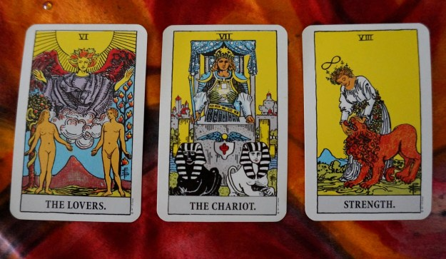 Gemini: The Lovers ~ Cancer: The Chariot ~ Leo: Strength