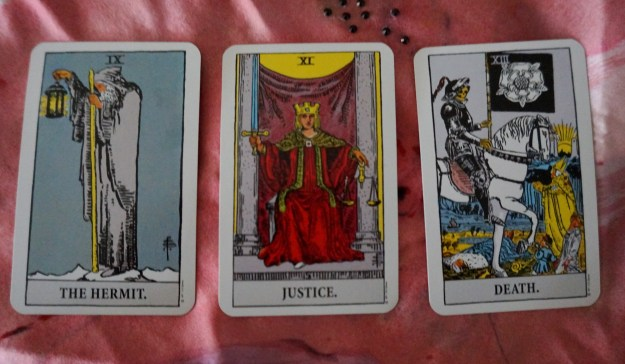 Virgo: The Hermit ~ Libra: Justice ~ Scorpio: Death