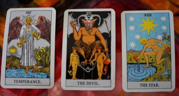 Sagittarius: Temperance ~ Capricorn: The Devil ~ Aquarius: The Star