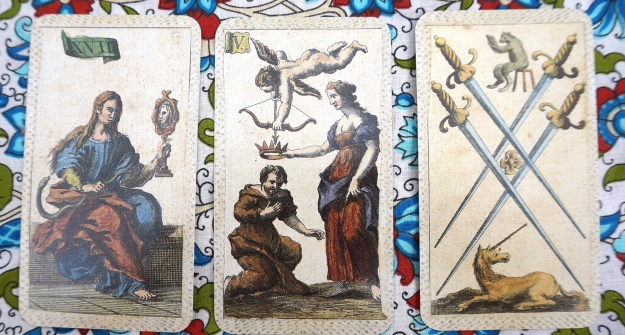 Taurus: Prudence ~ Gemini: The Lovers ~ Cancer: 4 of Swords