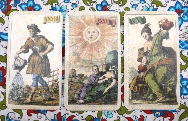 Scorpio: Aquarius (Yes, that's correct!) ~ Sagittarius: The Sun ~ Capricorn: Temperance
