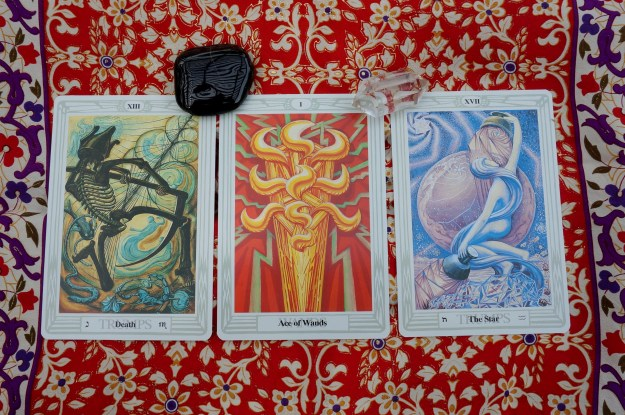 Cancer: XIII: Death ~ Leo: Ace of Wands ~ Virgo: XVII: The Star
