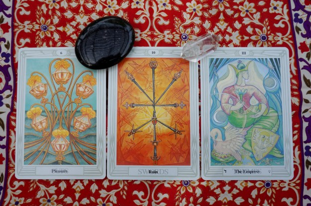 Capricorn: 6 of Cups ~ Aquarius: 10 of Swords ~ Pisces: III: The Empress