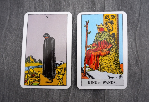 5 of Cups & King of Wands