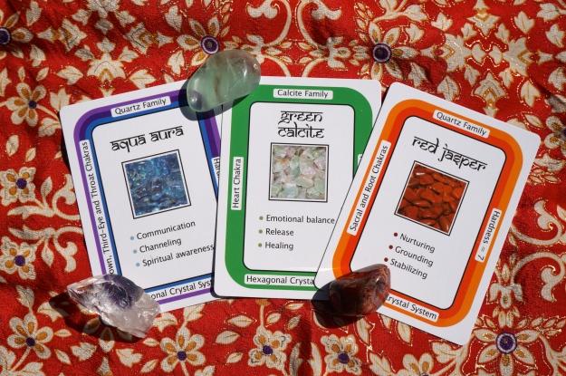 Taurus: Aqua Aura ~ Gemini: Green Calcite  ~ Cancer: Red Jasper