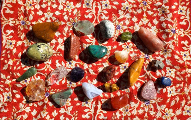The stones of summer!   Crystals delight the eye and the soul.