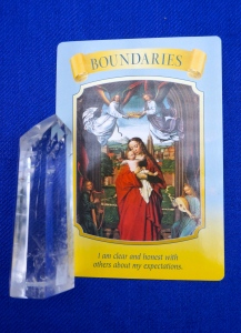 Boundaries card on blue background.