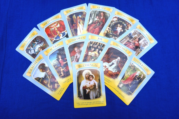 13 oracle cards on a blue background.