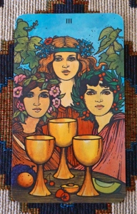 Clue for the Beginning of January: 3 of Cups