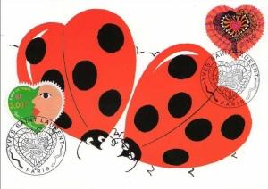 Ladybug hearts